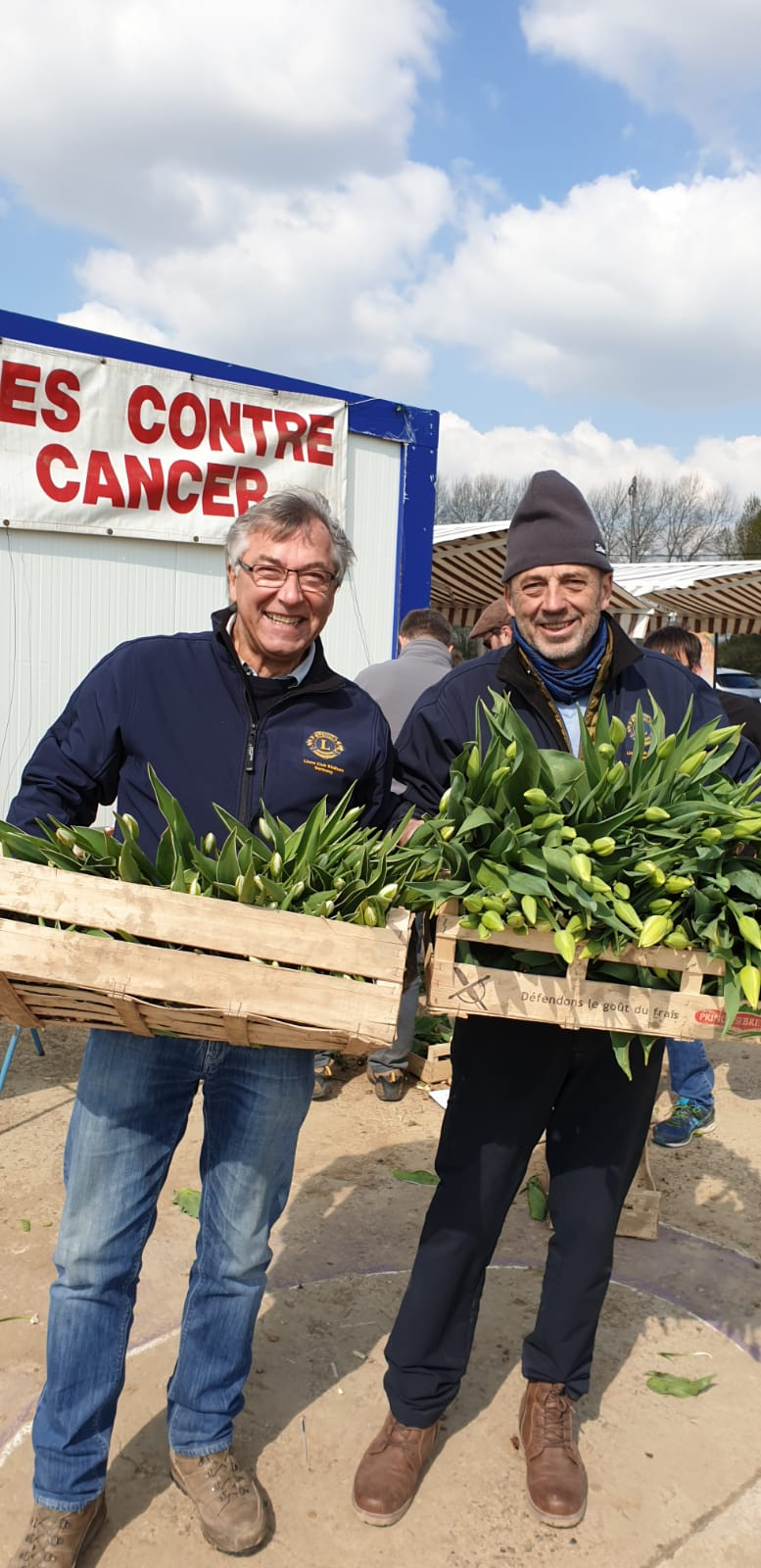 Helfen bei der Tulpen-Activity des Lions Clubs Armentières