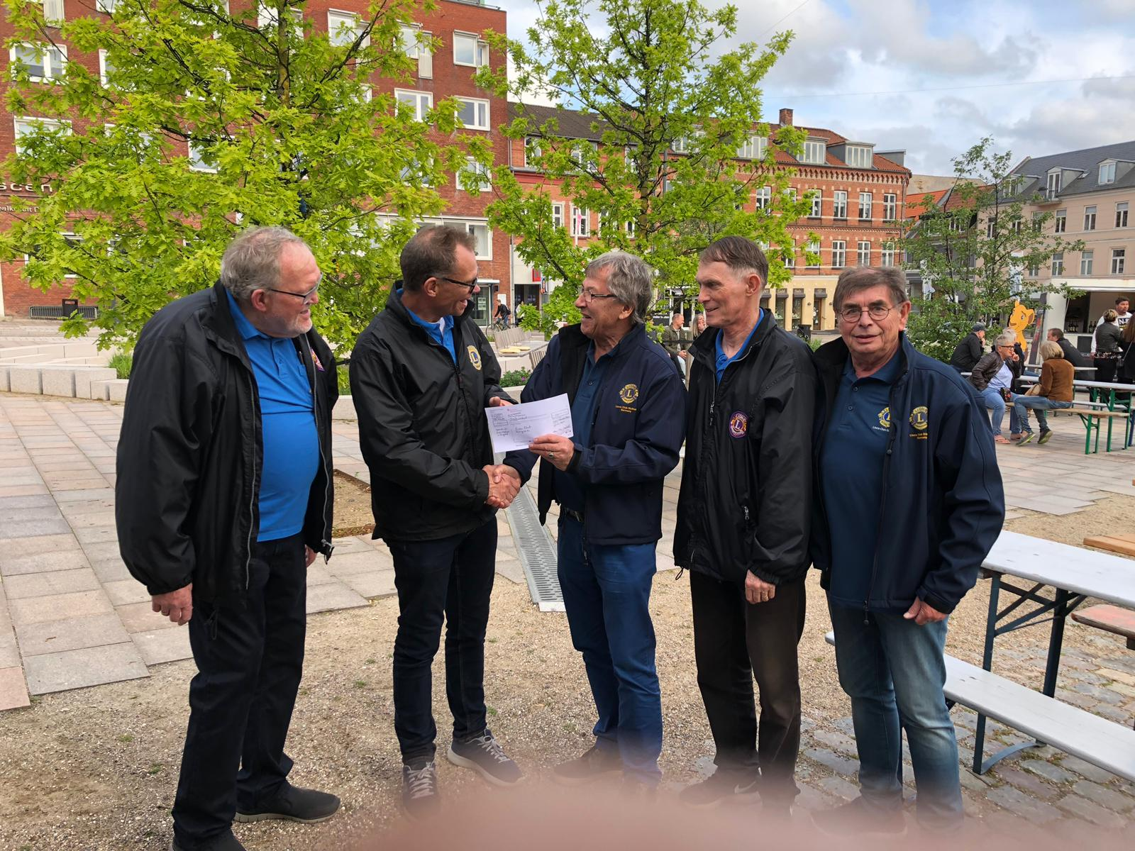 Spendenübergabe an den Lions Club Ringsted